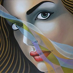 R. Balestra (2020) Woman's Veils - olio su tela 60x80cm