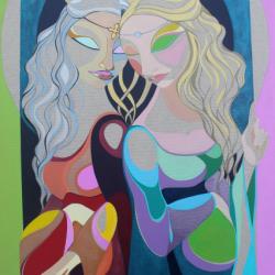 Marianna Simonetti (2020) - Lucrezia Chi? Acrilico su Tela 120x80cm