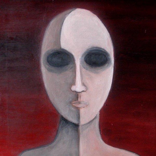 Cristina Sodano (2017) - Protoumano 1 - olio su tela 30x30cm