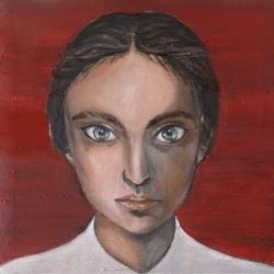 Cristina Sodano (2017) - L\'Erborista - olio su tela 30x30cm