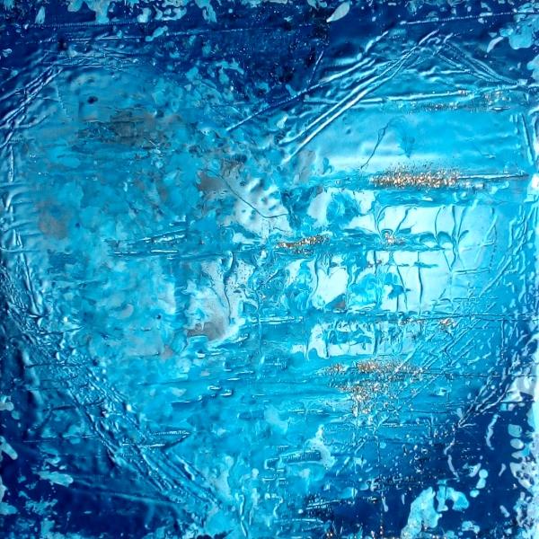 Amore e Realtà (2017) opera d'arte di Mark Barring tecnica mista su tela 20x20