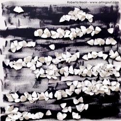 Roberta Bissoli - EmptyWords 2013 - Polimaterico su Tela 60x60cm