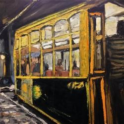 Tram 28 - olio su tela 70x50cm - Claudio Fabbricatore 2014
