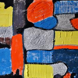 Fabrizio Gaggiotti (2016). Saltare il Muro - Polimaterico su Tela 50x70cm