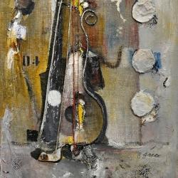 Roberto Greco (2016) - Senza Titolo - Polimaterico Tela 80x60cm