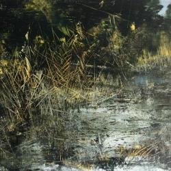 Ai Margini dipinto di Antonio Pedretti olio su tela 100x140 del 2007