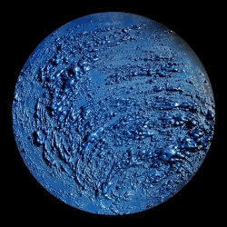 Luna Blu. Paola Romano. Polimaterico su Tavola 60cm (2011)