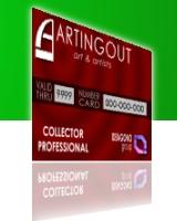 card professional per collezionisti d'arte