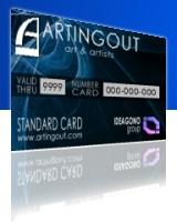 Standard card per pubblico artisti collezionisti e cultori dell'arte