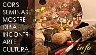 corsi d'arte mostre d'arte eventi artistici e culturali